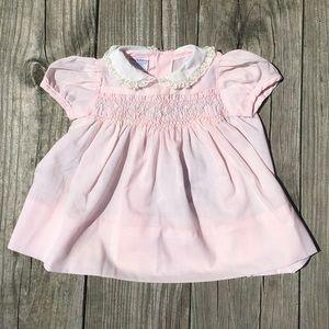 Vintage Polly Finders Hand Smocked Dress Newborn